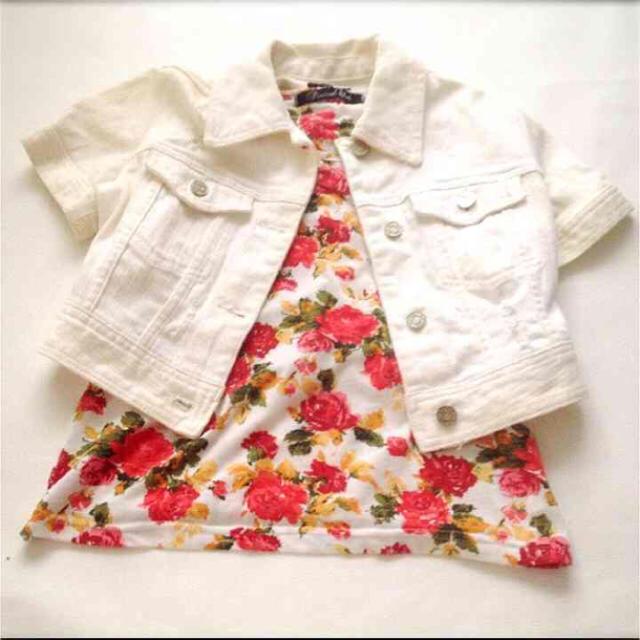 ホワイト半袖ジージャン✳︎Rady.ダチュラミシェルマカロン.rienda好きに レディースのジャケット/アウター(Gジャン/デニムジャケット)の商品写真