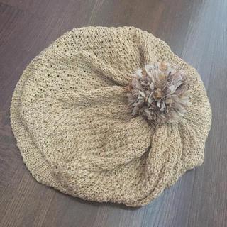 カシラ(CA4LA)の【専用】CA4LA シルク レーヨン ラメ糸 ポンポンベレー(ハンチング/ベレー帽)