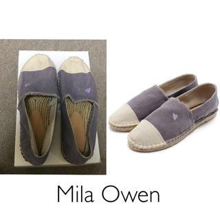 ミラオーウェン(Mila Owen)のMila Owen*ハート刺繍エスパドリーユ(スリッポン/モカシン)