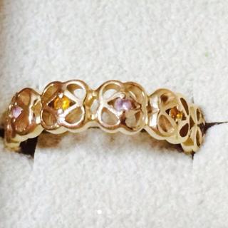ヨンドシー(4℃)の4℃ お花モチーフ リング K10(リング(指輪))