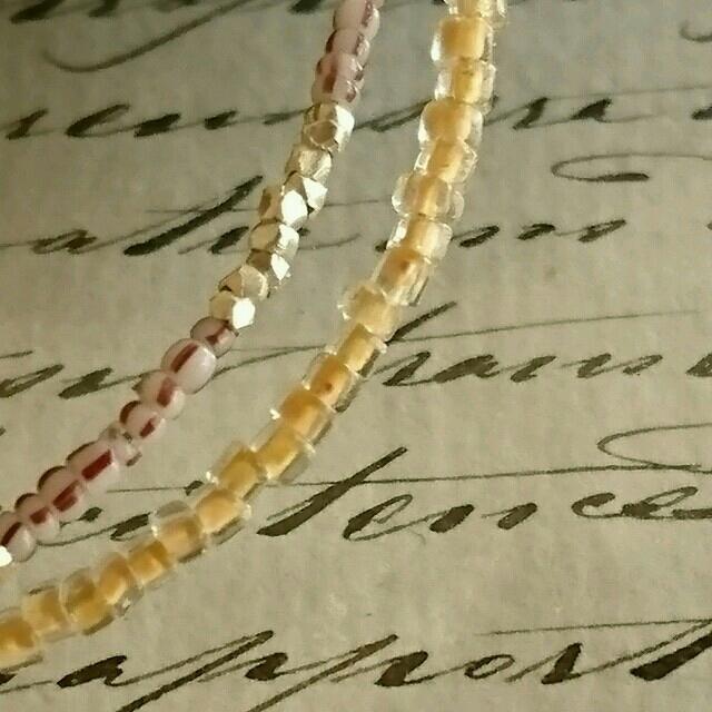 フランスアンティークビーズとシルバー2連ブレスレットKAPITALパラスパレス ハンドメイドのアクセサリー(ブレスレット/バングル)の商品写真