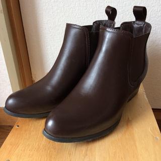 オデットエオディール(Odette e Odile)のオデットエオディール サイドゴア レインショートブーツ ブラウン 24.5(ブーツ)