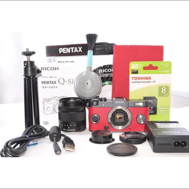 PENTAX(ペンタックス)の可愛い❤️レッド×ブラック❤️ ペンタックス Q-S1レンズキット⭐︎ スマホ/家電/カメラのカメラ(ミラーレス一眼)の商品写真