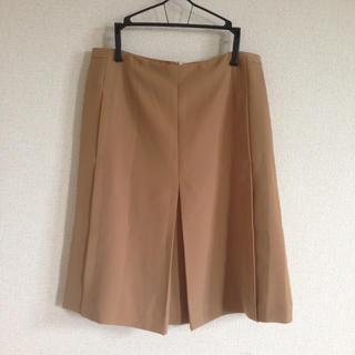 ノーブル(Noble)のコンサバ系 ベージュ 膝丈スカート(ひざ丈スカート)