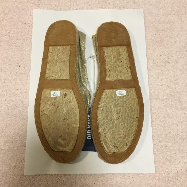 Old Navy(オールドネイビー)の新品未着用 OLD NAVY エスパドリーユ サイズ6 レディースの靴/シューズ(スリッポン/モカシン)の商品写真