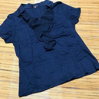 クリアインプレッション(CLEAR IMPRESSION)の⭐︎最終値下げ⭐︎クリアインプレッション★胸元シフォンフリルカットソー(カットソー(半袖/袖なし))