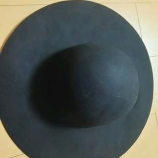 シマムラ(しまむら)の帽子 ハット 黒 女優帽子 57.5㎝(ハット)
