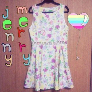 メリージェニー(merry jenny)のマルチフラワー💠タンクワンピ値下げ(ミニワンピース)