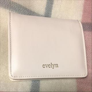 エブリン(evelyn)のevelyn 折り財布 ミニウォレット ベージュ(折り財布)