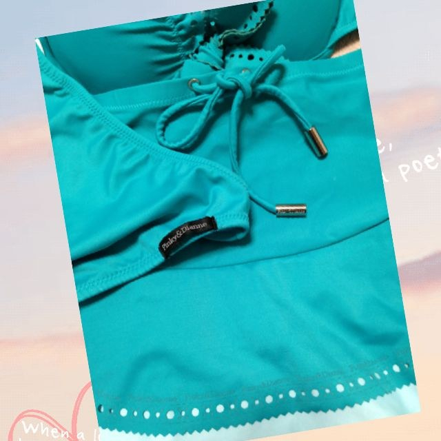 Pinky&Dianne(ピンキーアンドダイアン)のエメラルドグリーン水着→値下げ中 レディースの水着/浴衣(水着)の商品写真