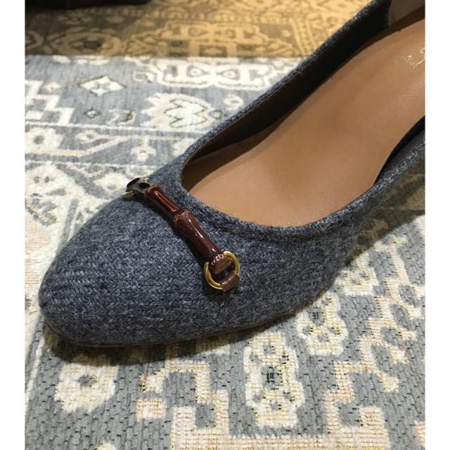 グレー パンプス L 24.5 レディースの靴/シューズ(ハイヒール/パンプス)の商品写真