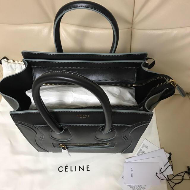 0ed2f55b3026 celine(セリーヌ)の専用*セリーヌ ラゲージ マイクロ ブラック×ゴールド レディースのバッグ