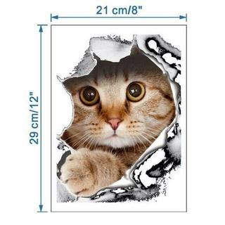 猫ステッカー 猫シール  壁・トイレ・冷蔵庫用デカシール♪ 新品未使用(猫)
