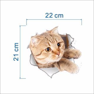 猫ステッカー 猫シール  壁・トイレ・冷蔵庫用デカシール 新品未使用♪♪(猫)