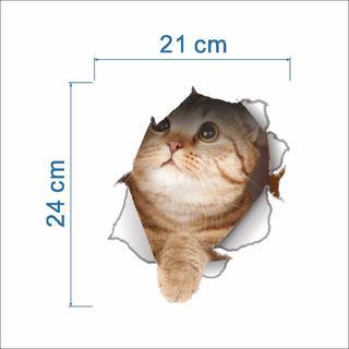 猫ステッカー 猫シール  壁・トイレ・冷蔵庫用デカシール♪ 新品未使用♪(猫)
