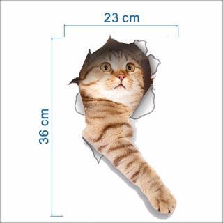 猫ステッカー 猫シール  壁・トイレ・冷蔵庫用デカシール♪ 新品未使用♪♪(猫)