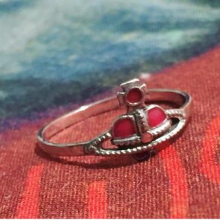 ヴィヴィアンウエストウッド(Vivienne Westwood)のナノハートリング レッド 13.5号(リング(指輪))