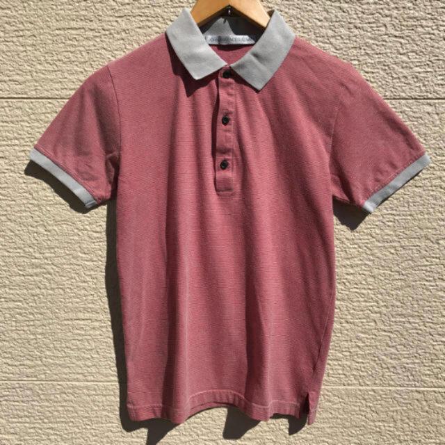JOHN LAWRENCE SULLIVAN(ジョンローレンスサリバン)のJOHNLAWRENCESULLIVAN ポロシャツ メンズ 34 ボーダー メンズのトップス(ポロシャツ)の商品写真