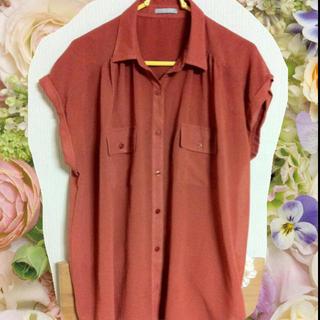 ジーユー(GU)のオレンジシャツ♡(シャツ/ブラウス(半袖/袖なし))