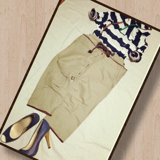 ザドレスアンドコーヒデアキサカグチ(The Dress & Co. HIDEAKI SAKAGUCHI)の値下☆TheDress&Co. レイヤード風クロップドパンツ(クロップドパンツ)
