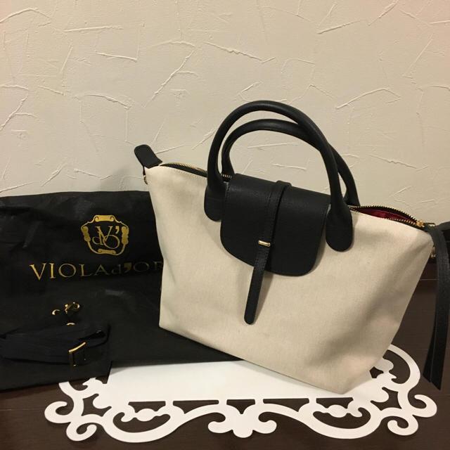 Noble(ノーブル)の今季スピックNobleVIOLAd'ORO完売2キャンパス×レザーバッグ2.3万 レディースのバッグ(ハンドバッグ)の商品写真