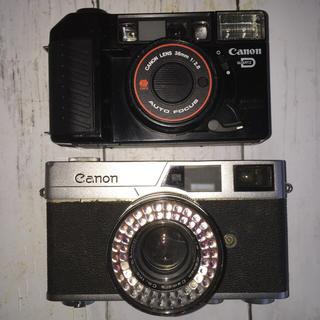 キヤノン(Canon)のcanon カメラ(ビンテージ、ジャンク品) 2点セット!動作未確認品(フィルムカメラ)