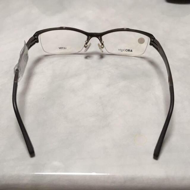 新品 メガネフレーム ダークグレー メンズのファッション小物(サングラス/メガネ)の商品写真