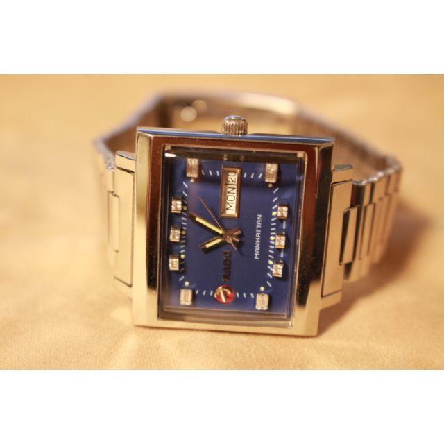 RADO(ラドー)の値下げ致しました☆ラドーマンハッタン文字盤リダン ブルー美品☆ メンズの時計(腕時計(アナログ))の商品写真