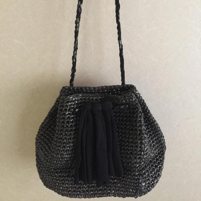 巾着型サマーバッグ ハンドメイドのファッション小物(バッグ)の商品写真