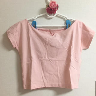 スライ(SLY)のスライ ピンク ショート丈 ボートネック 可愛いデザイン(Tシャツ(半袖/袖なし))
