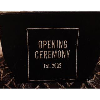 オープニングセレモニー(OPENING CEREMONY)の 本日限り!値下げ!openingceremony 季節 限定ベロア素材ポーチ(ポーチ)