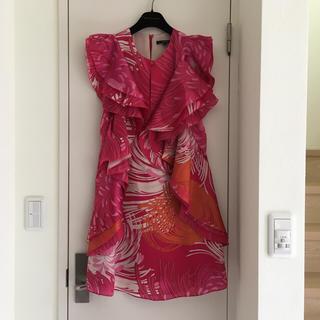グッチ(Gucci)のグッチ シルクドレス ワンピース(ミディアムドレス)