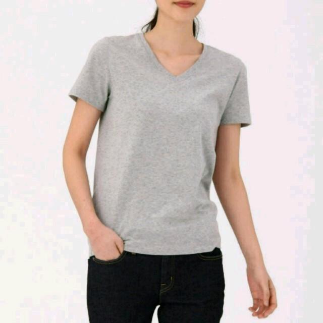 MUJI (無印良品)(ムジルシリョウヒン)の[VERY オトナミューズ掲載] 無印良品 VネックTシャツ ホワイト M レディースのトップス(Tシャツ(半袖/袖なし))の商品写真