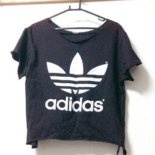 アディダス(adidas)のadidas❤︎切りっぱなしTシャツ(Tシャツ(半袖/袖なし))
