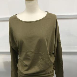 スライ(SLY)のレディース☆ロングTシャツ無地☆モスグリーン☆フリーサイズ(Tシャツ(半袖/袖なし))