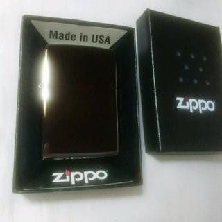 ジッポー(ZIPPO)の【Zippo】未使用品【メタルブラック】(タバコグッズ)