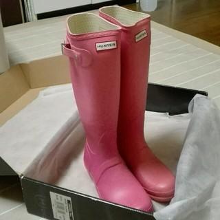 ハンター(HUNTER)の最終値下げ☆HUNTER ☆ピンク ☆箱付き(レインブーツ/長靴)