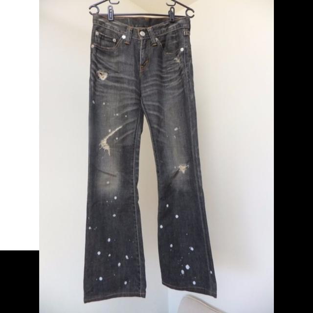 Levi's(リーバイス)の◆リーバイス 【708 ダメージ ジーンズ サイズ29 黒】 LEVIS メンズのパンツ(デニム/ジーンズ)の商品写真