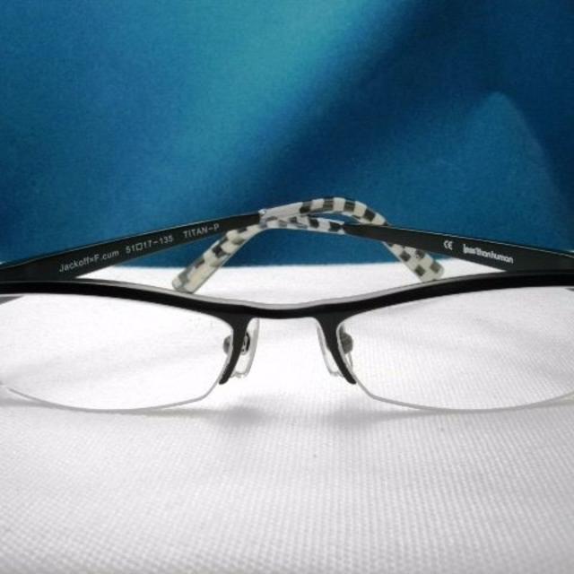 LESS THAN HUMAN(レスザンヒューマン)のレスザン ヒューマン★Jackoff=F★ブラック★チタンTitan★LE9  メンズのファッション小物(サングラス/メガネ)の商品写真