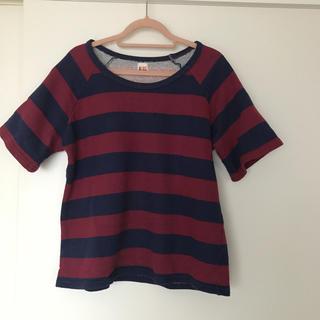シェル(Cher)のシェル 赤 紺 ボーダーTシャツ(Tシャツ(半袖/袖なし))