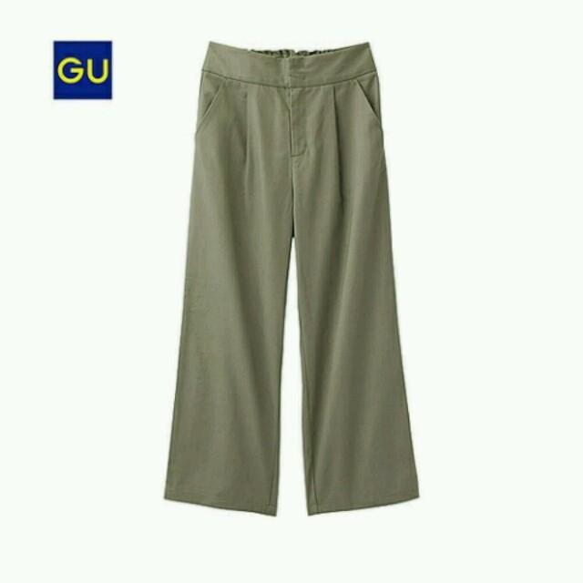 GU(ジーユー)のGU♡完売チノクロップドワイドパンツ2点セット♡ジーユー レディースのパンツ(チノパン)の商品写真