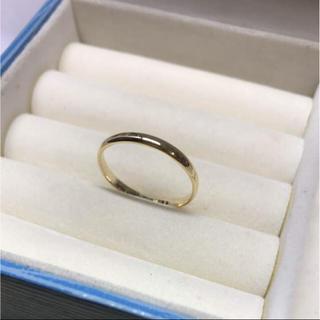 . k18  新品 19号 男女兼用  お揃いリングにも 安心の日本製(リング(指輪))