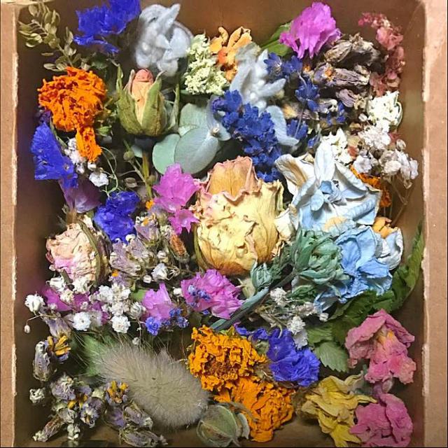 ドライフラワー 花材 枝つき ラベンダー入り #9 ハンドメイドのフラワー/ガーデン(ドライフラワー)の商品写真