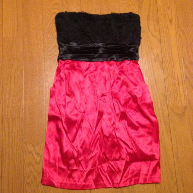 ANAP Latina(アナップラティーナ)のミニドレス★赤×黒 レディースのフォーマル/ドレス(その他ドレス)の商品写真