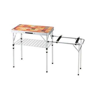コールマン(Coleman)の高さ2段調節 使いやすいキッチンテーブル ナチュラルモザイク ツーウェイキッチン(テーブル/チェア)