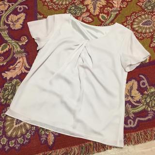 クードシャンス(COUP DE CHANCE)のtsugi様専用★クードシャンス 半袖ライトグレーブラウス(シャツ/ブラウス(半袖/袖なし))