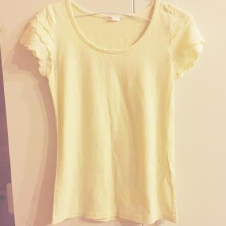 ハニーズ(HONEYS)の黄色 イエロー 袖フリル レース Tシャツ(Tシャツ(半袖/袖なし))