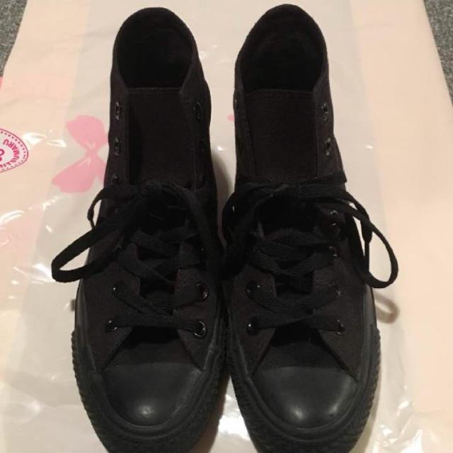 CONVERSE(コンバース)のオールスター コンバース ハイカット 黒 レディースの靴/シューズ(スニーカー)の商品写真