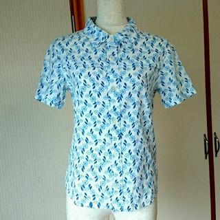 リュウスポーツ(RYUSPORTS)のsize M 半袖 シャツ 青 花柄(シャツ/ブラウス(半袖/袖なし))