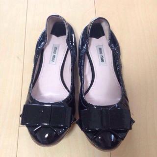 ミュウミュウ(miumiu)のmiumiu☆フラットシューズ(ローファー/革靴)